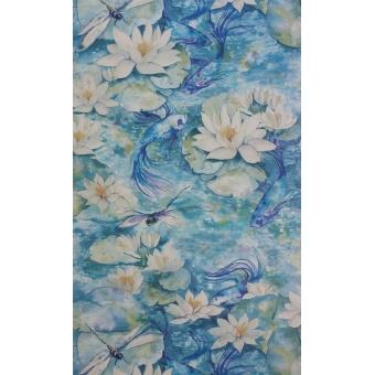 Papier peint Water Lily Azure blue Matthew Williamson