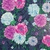 Papier peint Duchess Garden Ink/Pink/Magenta/Turquoise Matthew Williamson