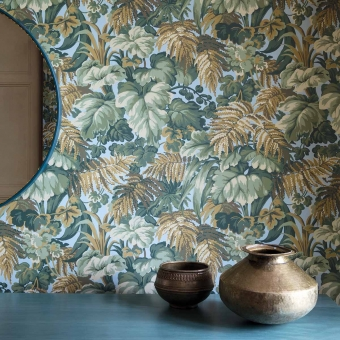 Royal Fernery Wallpaper Blush Pink Cole and Son