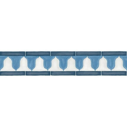 Frise Zellige Border Cole and Son Shades of China Blue and White 113/12036 Cole and Son