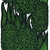 Tissu Hyasintti White/Green/Black Marimekko