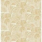 Satin Vuorilaakso White/Gold Marimekko