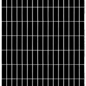 Tissu enduit Tiiliskivi Black/White Marimekko
