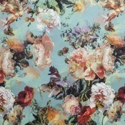 Tissu Botanique Bleuet Jean Paul Gaultier