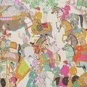 Papier peint Dara Turquoise Manuel Canovas