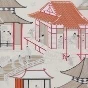 Papier peint Madame Butterfly Encre de Chine Manuel Canovas