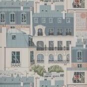 Papier peint Les Toits de Paris Vert de Gris Manuel Canovas