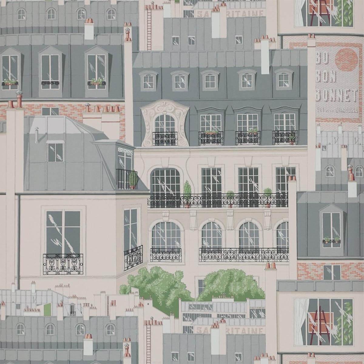 Papier Peint Les Toits De Paris Manuel Canovas