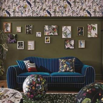 Birds Sinfonia Crepuscule Cushion Multicolore Christian Lacroix