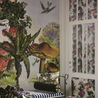 Jardin Des Reves Panoramic Wallpaper Prisme Christian Lacroix