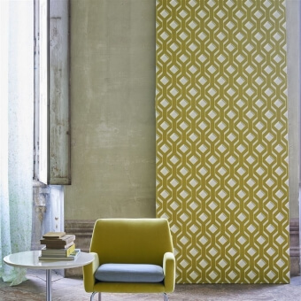 Chareau Wallpaper Chartreuse Designers Guild