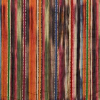 Tissu Bohemian Stripe Multi Mulberry