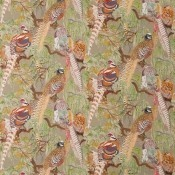 Tissu Game Birds Stone/Multi Mulberry