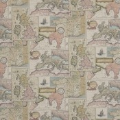 Tissu Bohemian Travels Sand Mulberry