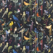 Tissu Birds Sinfonia  Perce Neige Christian Lacroix