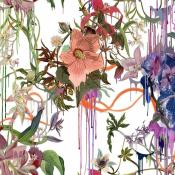 Tissu Orchids Fantasia  Perce Neige Christian Lacroix