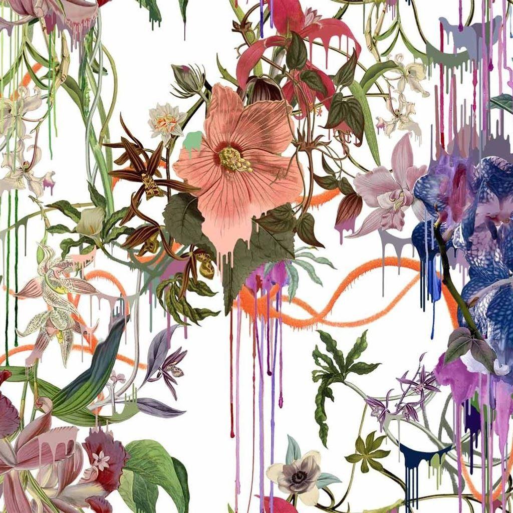 tissu orchids fantasia christian lacroix. Black Bedroom Furniture Sets. Home Design Ideas