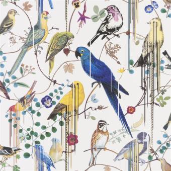 Birds Sinfonia Wallpaper Argent Christian Lacroix