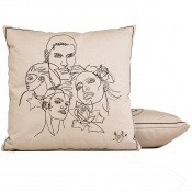 Coussin Amities Blanc Jean Paul Gaultier