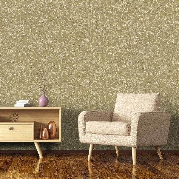 papier peint gouache jean paul gaultier. Black Bedroom Furniture Sets. Home Design Ideas