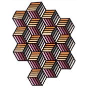 Tapis Parquet Hexagon 153x203 cm Gan Rugs
