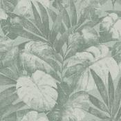 Revêtement mural Expédition Vert de feuille Flamant