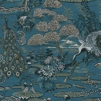 Lotus Wall covering Azure Arte