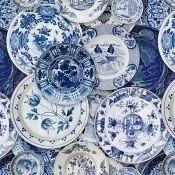 Papier peint Delftware Blue/White Mindthegap