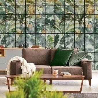 Orangerie Panel Green/Yellow/Taupe Mindthegap