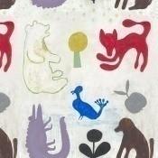 Papier peint Mr Boyd'S Animals Red/White/Blue Mindthegap