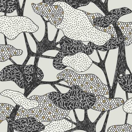 Papier peint Botany Hookedonwalls Gris clair 36540 Hookedonwalls