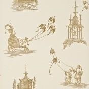 Papier peint Chillingham Silver/Aqua GP & J Baker