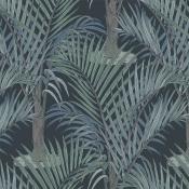 Papier peint Palma Noir/Gris Hookedonwalls