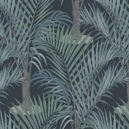 Papier peint Palma Hookedonwalls  Bleu Nuit 36532 Hookedonwalls