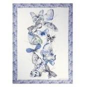 Plaid Papillons  Cobalt Designers Guild