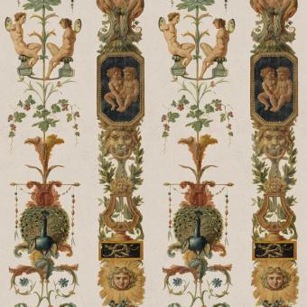 Pilasters Panel Taupe/Green/Beige Mindthegap