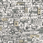Papier peint Mediterranea Blanc Doré Cole and Son