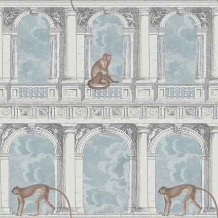 Papier peint Procuratie con vista Cole and Son Bleu/Gris 114/8015 Cole and Son