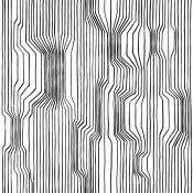 Papier peint Frekvenssi Noir et Blanc Marimekko