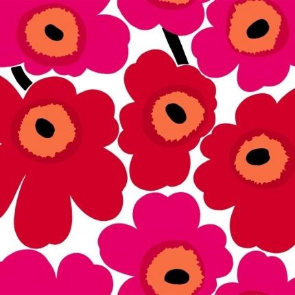 Papier peint Unikko Marimekko Framboise 23354 Marimekko