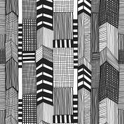 Papier peint Ruutukaava Noir et Blanc Marimekko