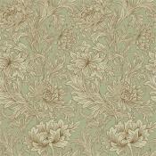 Papier peint Chrysanthemum Toile Eggshell/Gold Morris and Co
