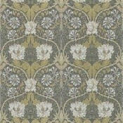 Papier peint Honeysuckle & Tulip Charcoal/Gold Morris and Co