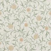 Papier peint Scroll Thyme/Pear Morris and Co