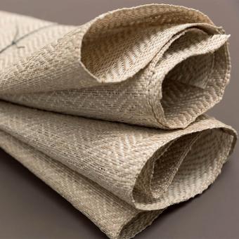 Raphia Chevron Fabric Sable/Naturel CMO Paris