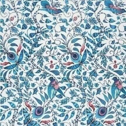 Papier peint Rousseau Clarke and Clarke Blue W0104/01 Clarke and Clarke