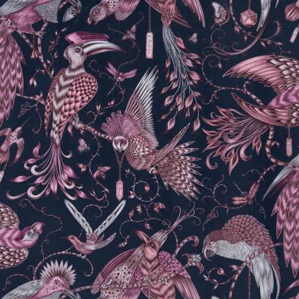 Velours Audubon Clarke and Clarke Pink F1207_01 Clarke and Clarke