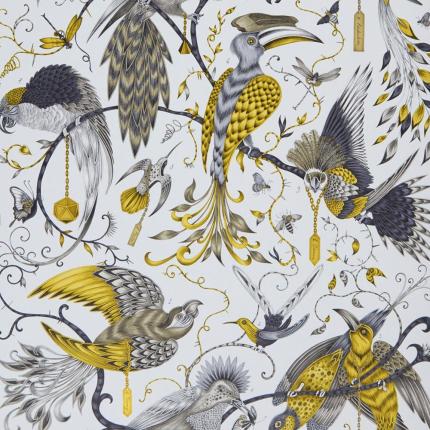 Papier peint Audubon Clarke and Clarke Gold W0099/02 Clarke and Clarke