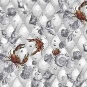 Papier peint Coquillages & Crustacés Blanc Edmond Petit