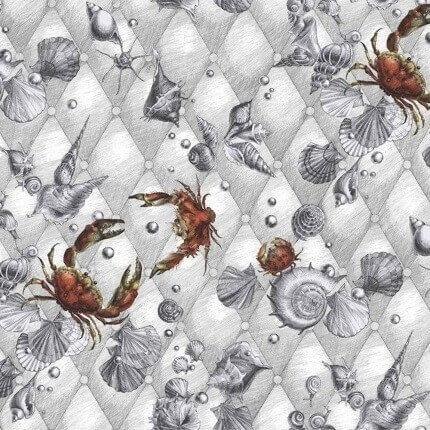 Papier peint Coquillages & Crustacés Edmond Petit Blanc RM116-01 Edmond Petit